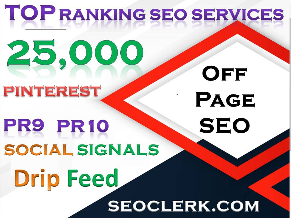 25,000 Pinterest PR10 Social Signals Share for SEO Google Ranking Help To Increase Website Traffic