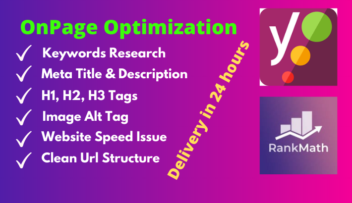 5 pages onpage SEO wordpress website ranking using yoast seo plugin
