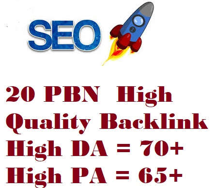 I will create High quality 20 PBN back-links with High DA 70+ PA 65+