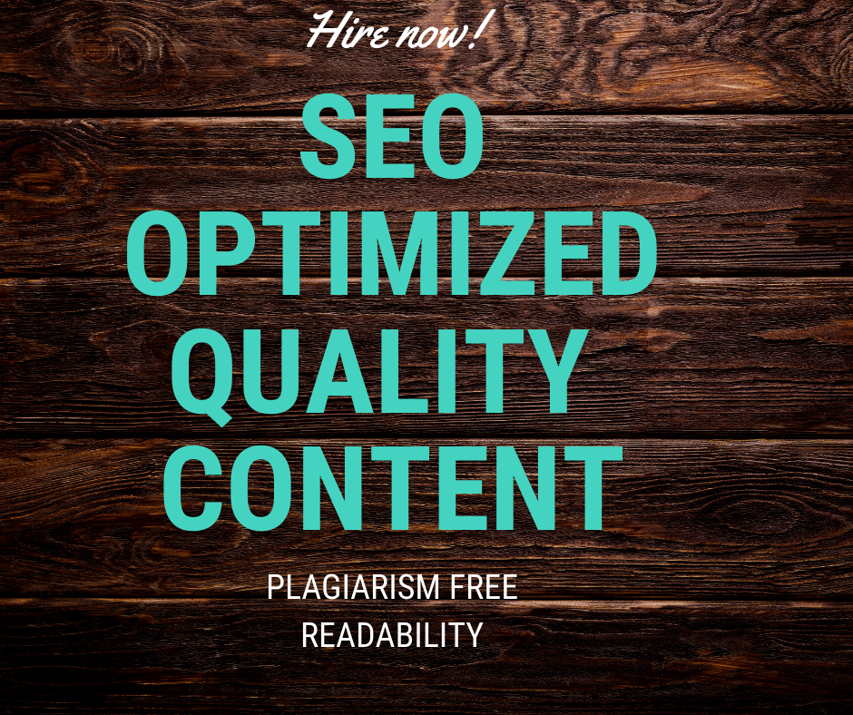 Will give you 600 plus word SEO optimized content