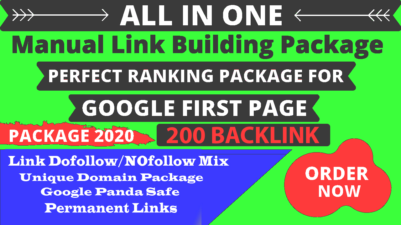 Build Up All In One 200 Manual SEO Link Building Package GOOGLE Ranking