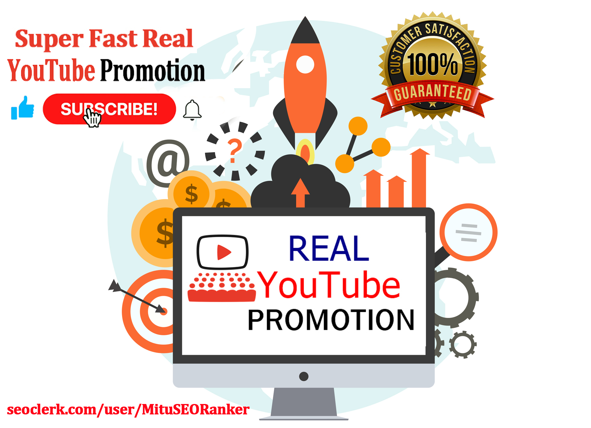 Super Fast Real YouTube Promotion with extra bonus