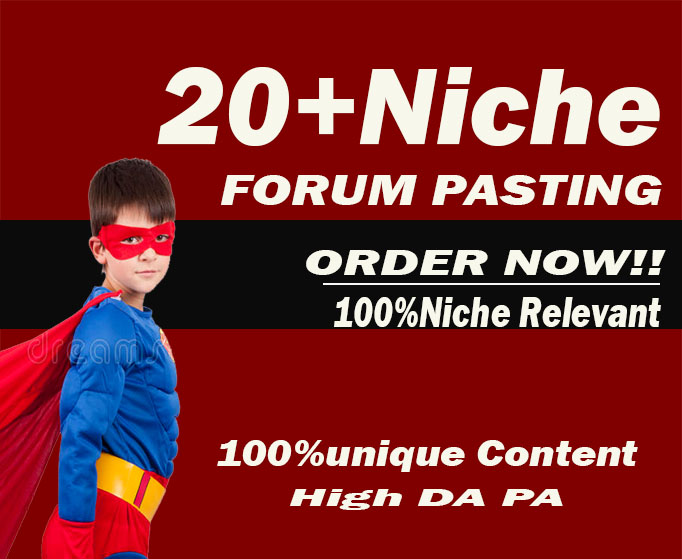 Rank on Google 1st page by High Authority manually created genuine and permanent Forum Posting backl