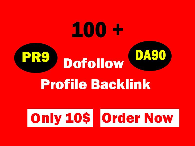 provide manually 100 pr9 da 90 dofollow profile backlinks