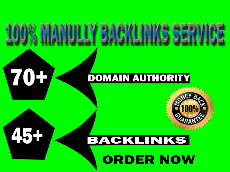 Special Offer- 45+ Backlinks from High Quality DA-70+ Domains-Skyrocket your site Google Rannking No