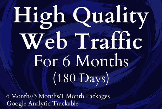 I will give unlimited and genuine real website traffic for 6 months