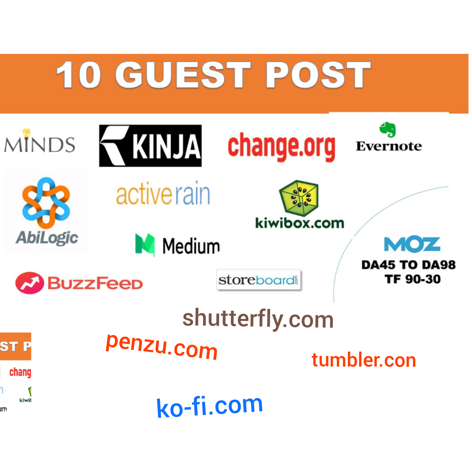 I will give Guest Post On high Authority Sites in cheap rates Having great DA/PA and traffic