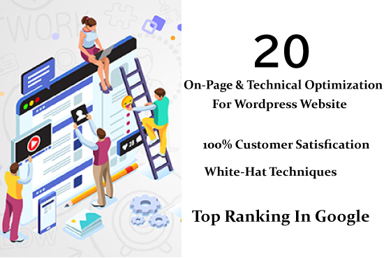 I will do wordpress on page and technical optimization