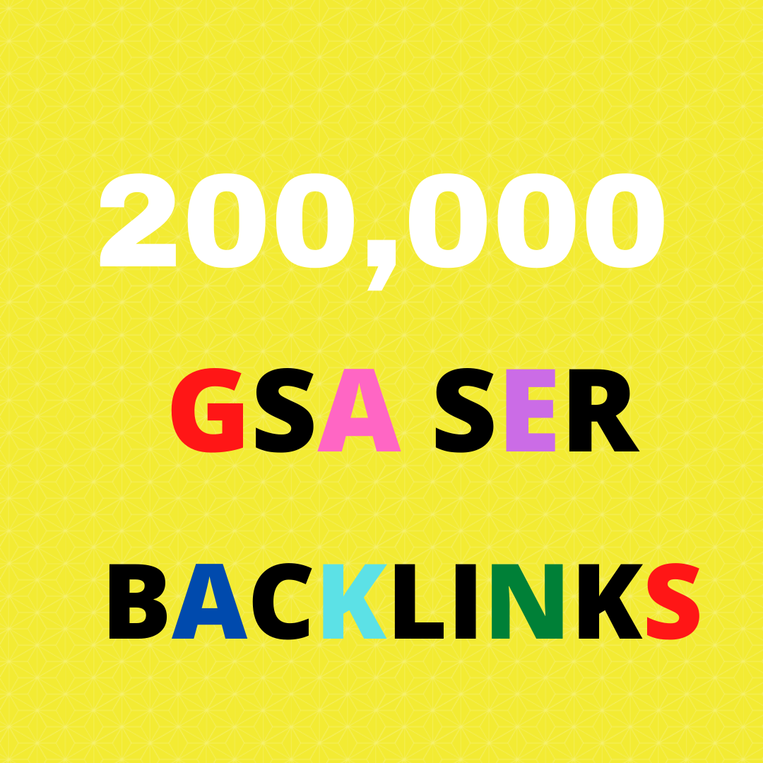 I Will Give You 200k Gsa Ser Backlink For Your Website Ranking On Google