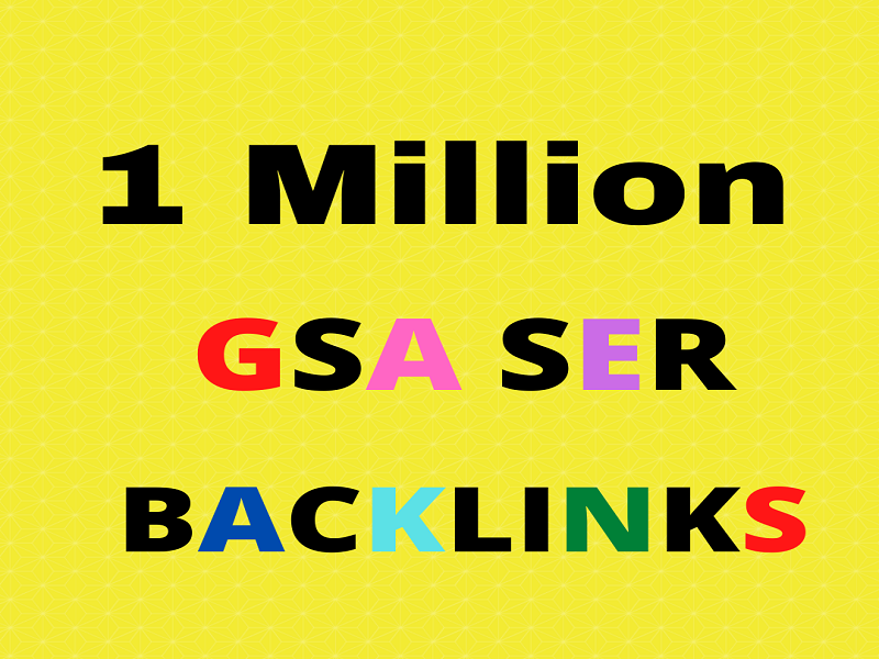I Will Provide You 1M Gsa Backlink For Your Website Boosting