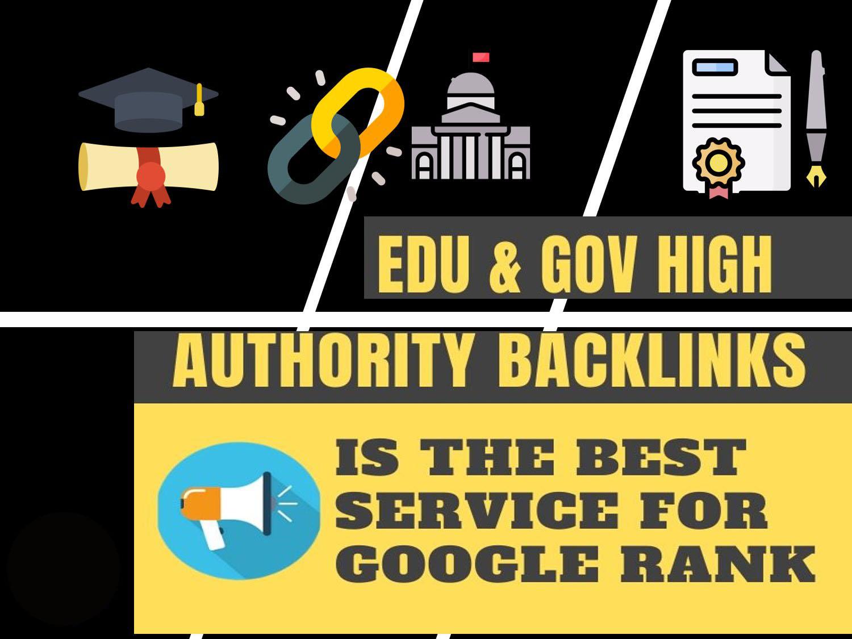 I will manually create 2.0 web or Edu & Gov Backlinks for website