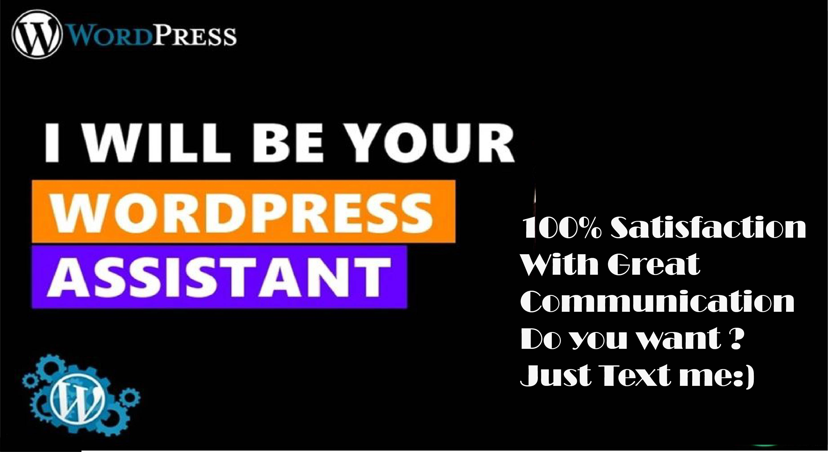 I will be your wordpress assistant