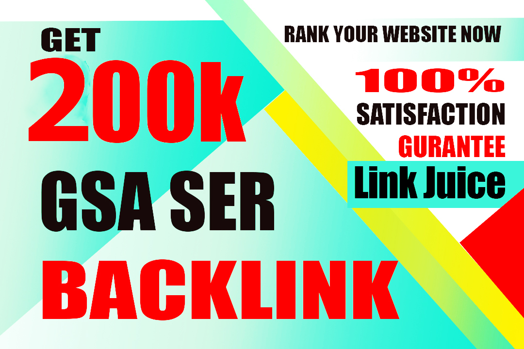 I will create 200k high quality gsa backlinks for fast google indexing link juice your website