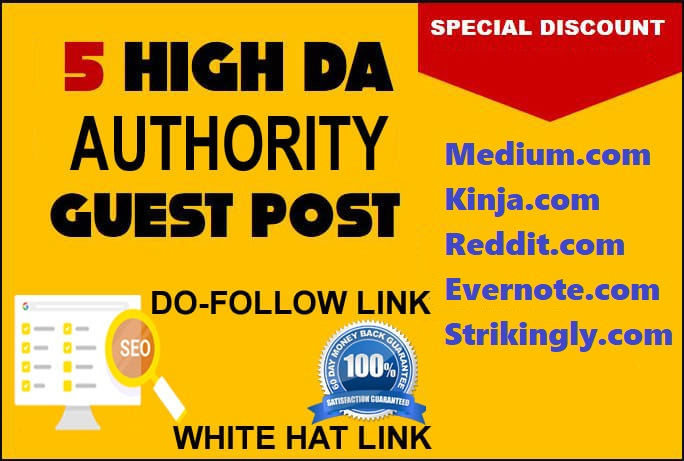 Permanent Guest Post On Top 5X DA90+ High-Authority Sites