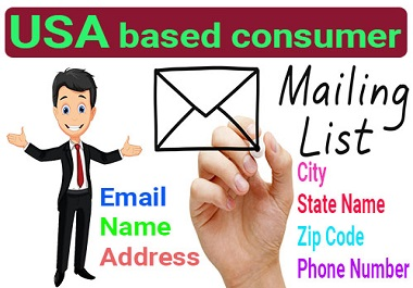 5000 USA Based Verified,  Clean and Active Consumer Email List for Email Marketing