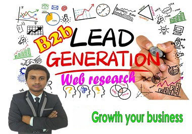 I will provide 30 High-quality,  valid and active leads and web research