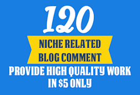 Make 120 Niche Relevant Blog Comment Backlinks Off Page SEO