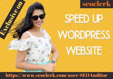 I will do speed up wordpress website speed in 24 hours