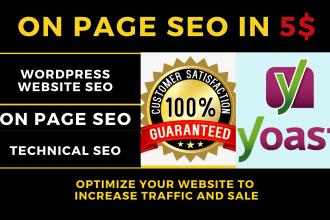 Advanced Wordpress Yoast SEO on page optimization with onsite SEO audit report