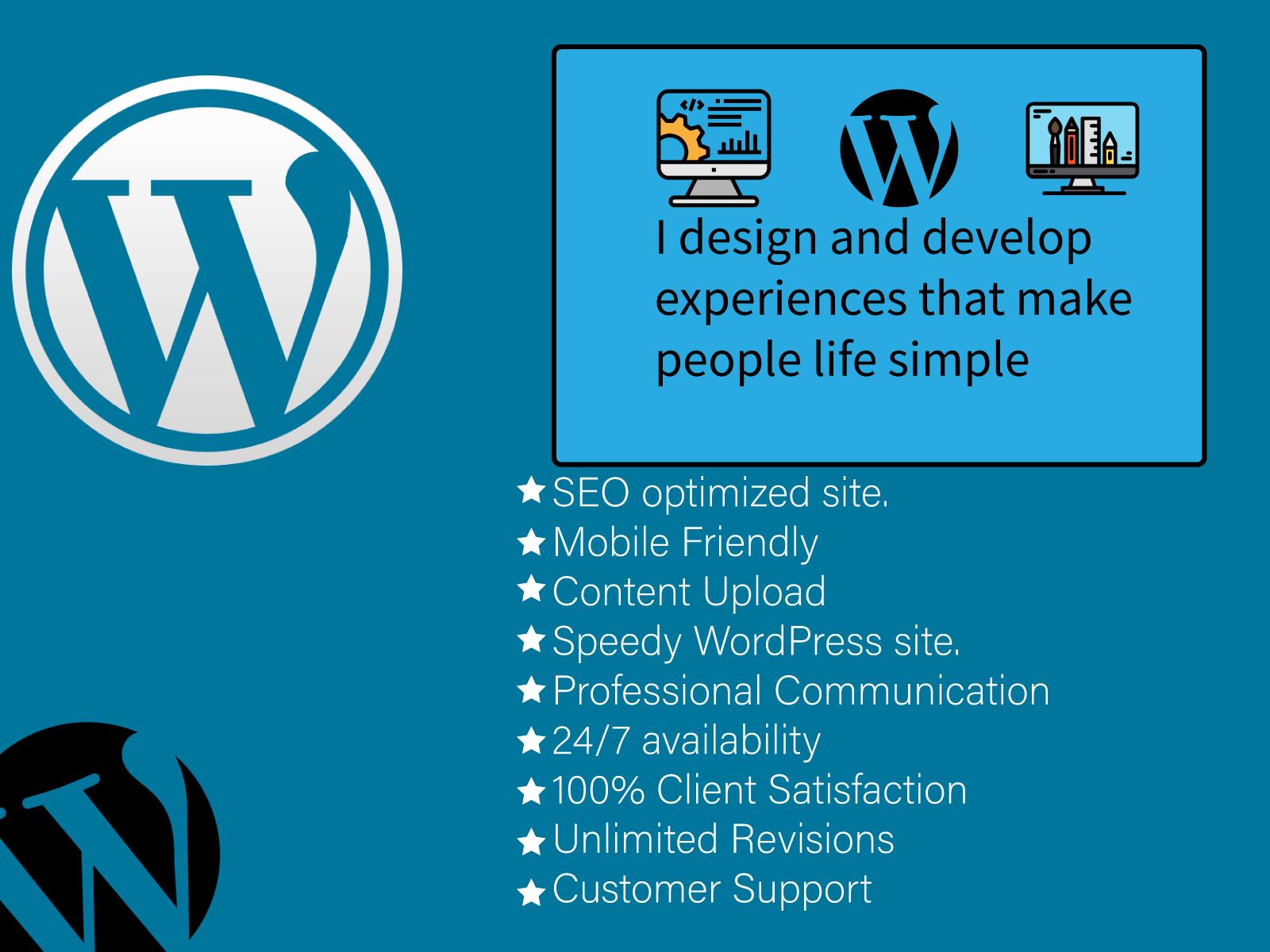 I will create an SEO Optimized responsive WordPress site