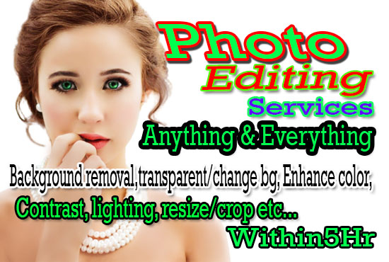 do any professional photoshop editing within 5 hours