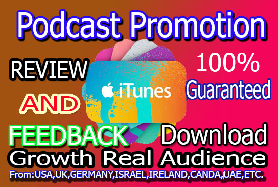 Promote your podcast,  increase downloads and rating