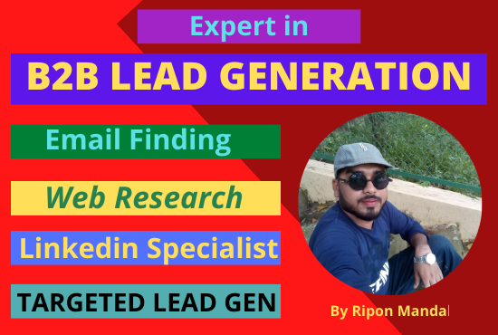 I will do targeted b2b leads generation and web research