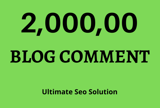 Build 200000 contextual blog comment backlinks