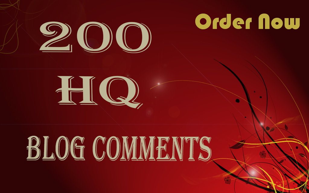 I will do 200 manually blog comments backlinks on High Domain Authority Sites