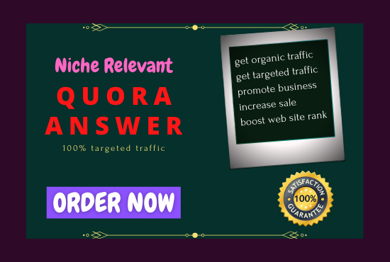 Provide 10+ niche relevant Authentic Quora Answers