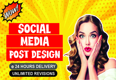 I will design eye catching social media post