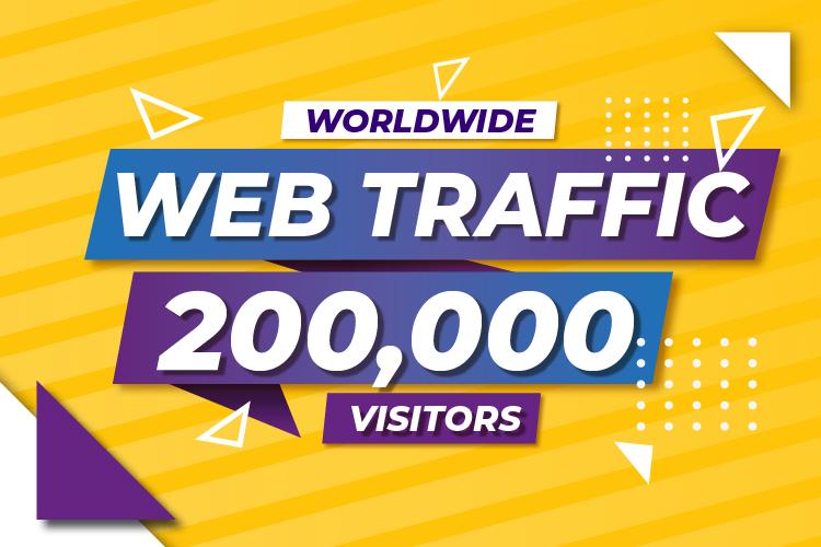 200,000 Worldwide High Quality Ranking Website Traffic