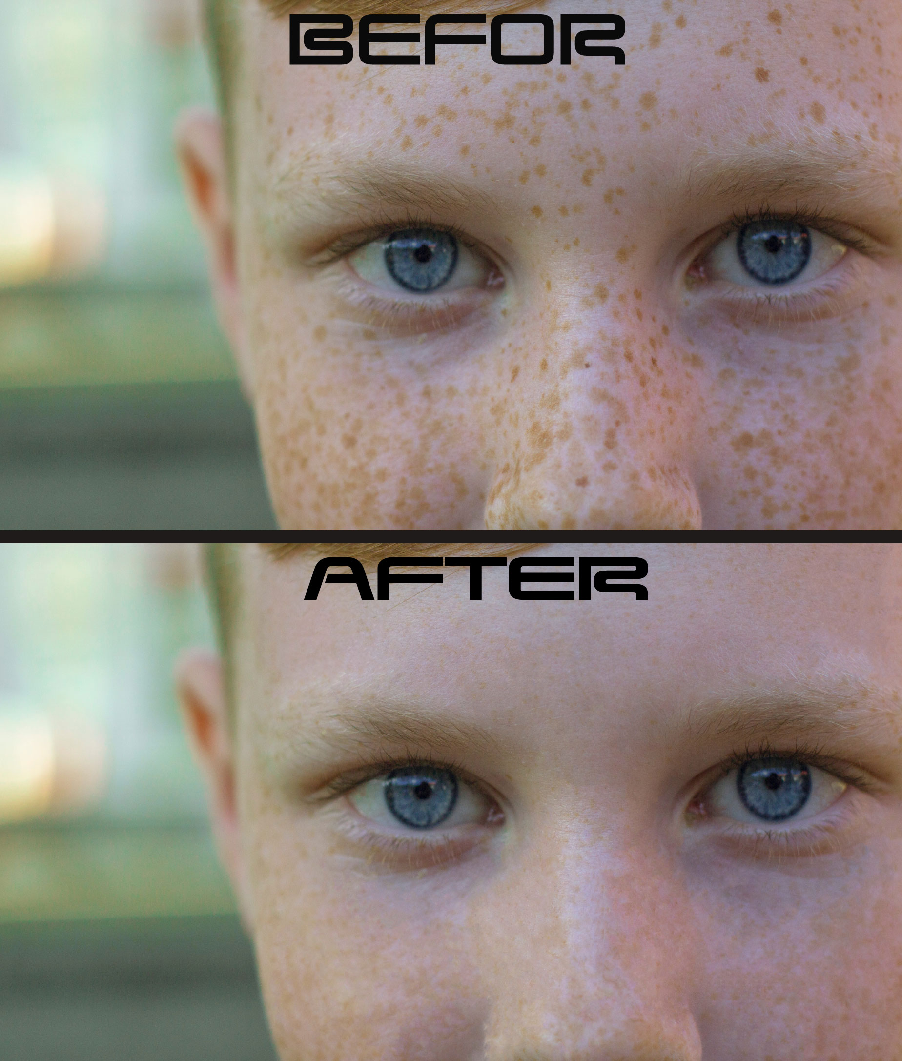 Natural looking portrait retouching and photo editing service
