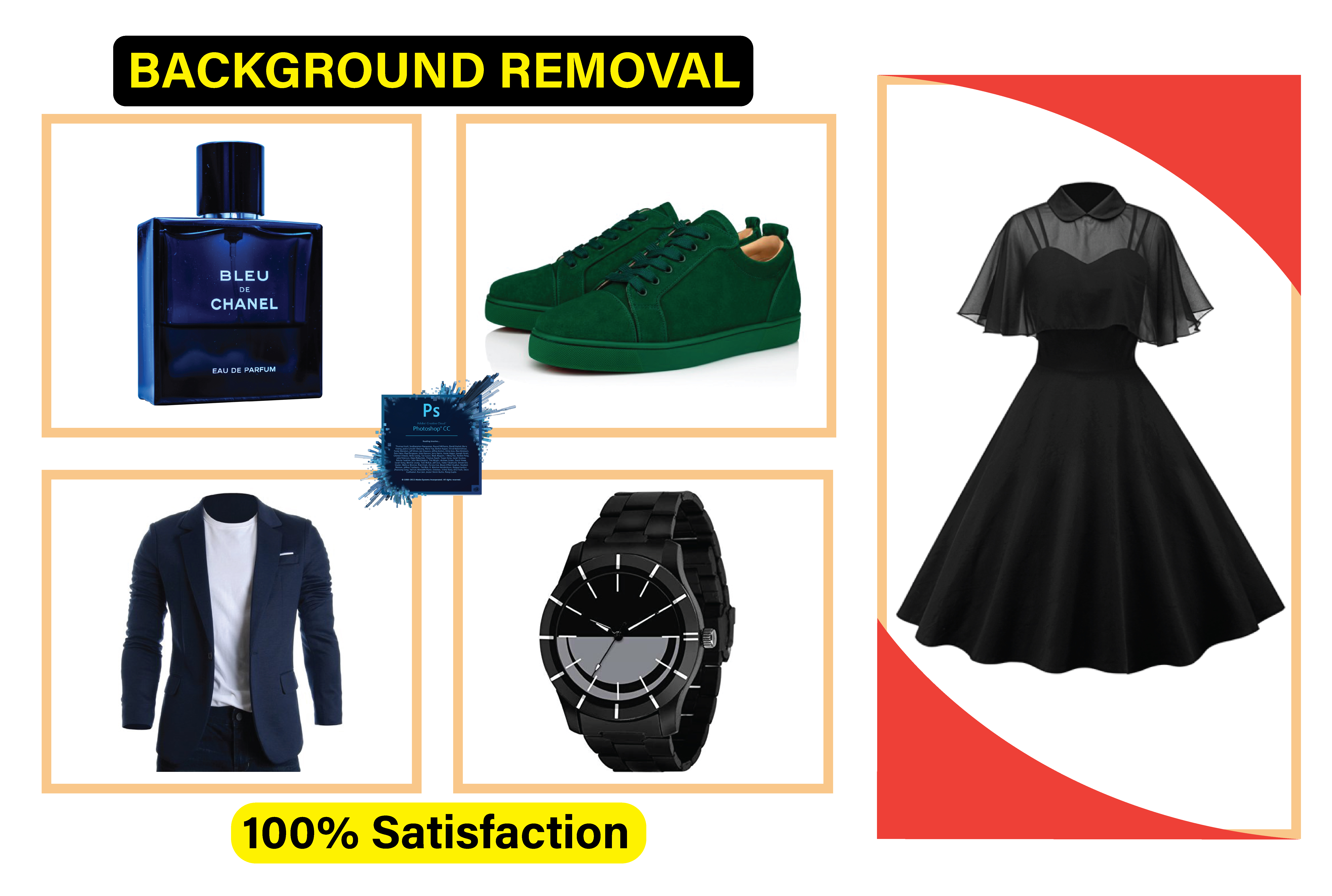 I will professionally remove background images with white or transparent