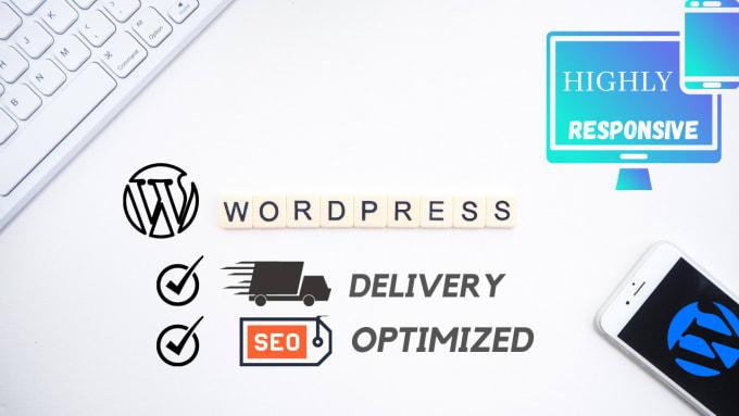 I will create a responsive modern wordpress website