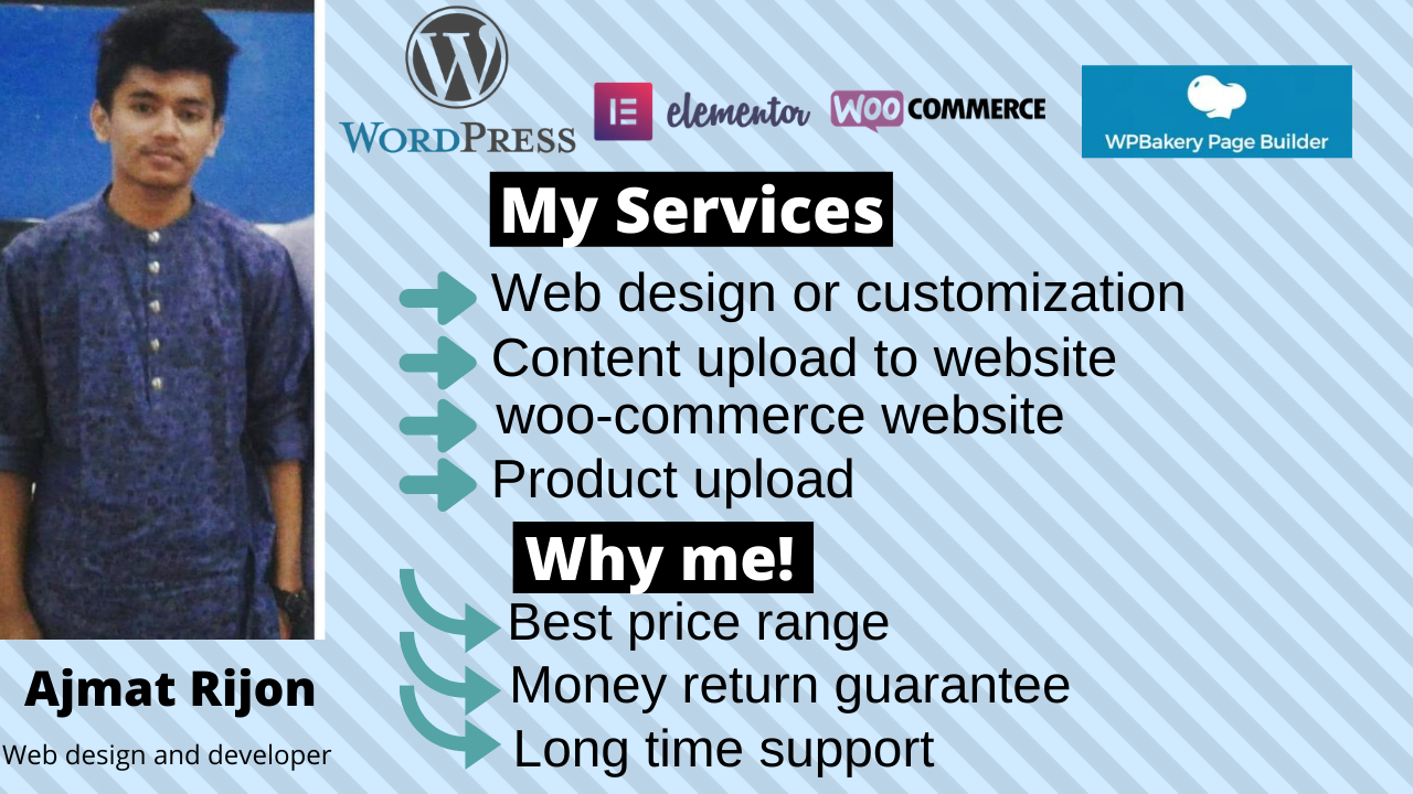I will build your website by using wordpress within 3 days