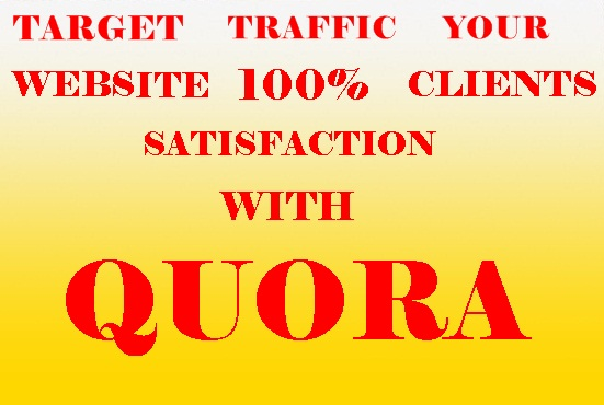 Promote your website with 10 quality Quora Answers