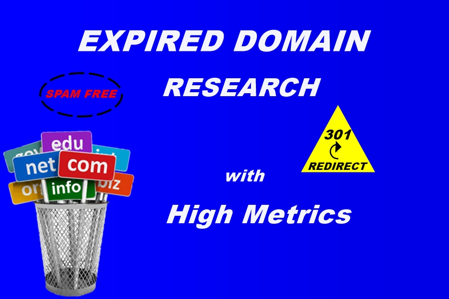 I will Provide Qualitative Expired Domain with High Metrics and Niche Relevants
