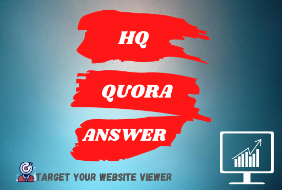 Promote your website 15 high quality Quora Answer with website backlink