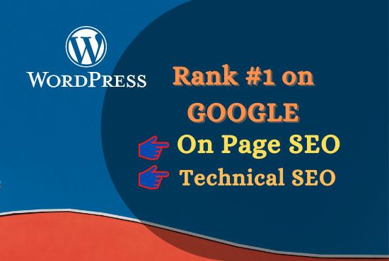 I will fix wordpress on page SEO optimization