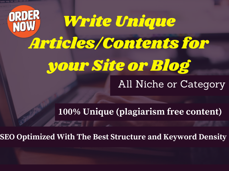 I Will Write SEO friendly 500 Word Articles and Content For Your Site or Blog