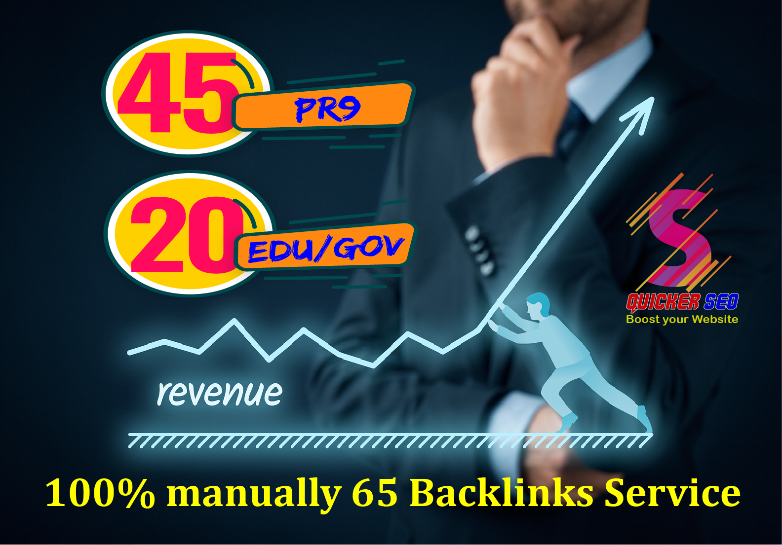 45 Pr9 Dofollow + 20 Edu - Gov High Authority SEO Backlinks - Fire Your Google Ranking