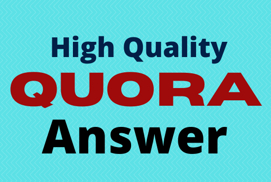I Will Provide 20 High Quality Quora Answer for Your Website