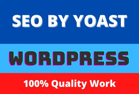 I will do WordPress Yoast SEO On-page Optimization