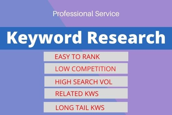 I will do SEO keyword research and competitor analysis for your website ranking