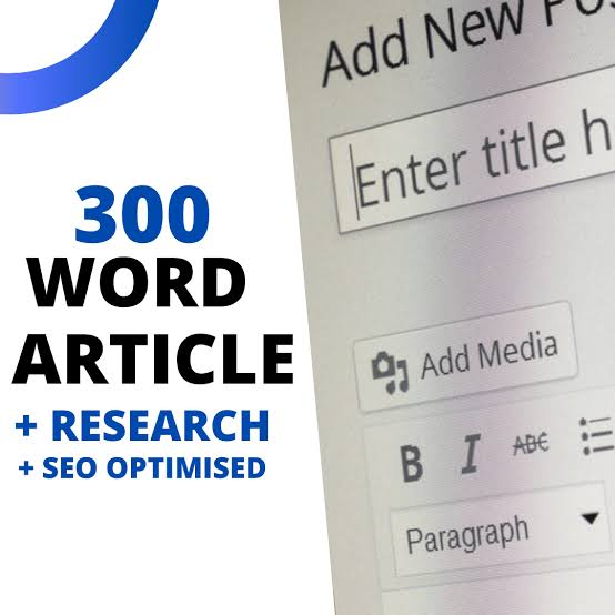 I Will Write 300 Words Article/Content that is SEO optimized and Unique on any topic