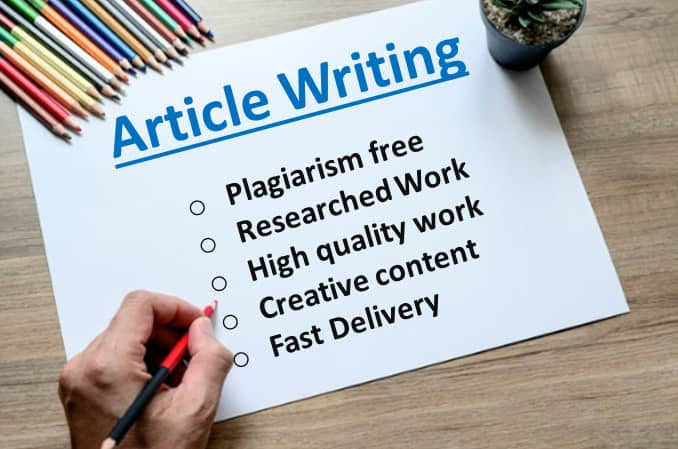 I Will Write 1000 words High Quality SEO Optimized and Well Researched Article and Content