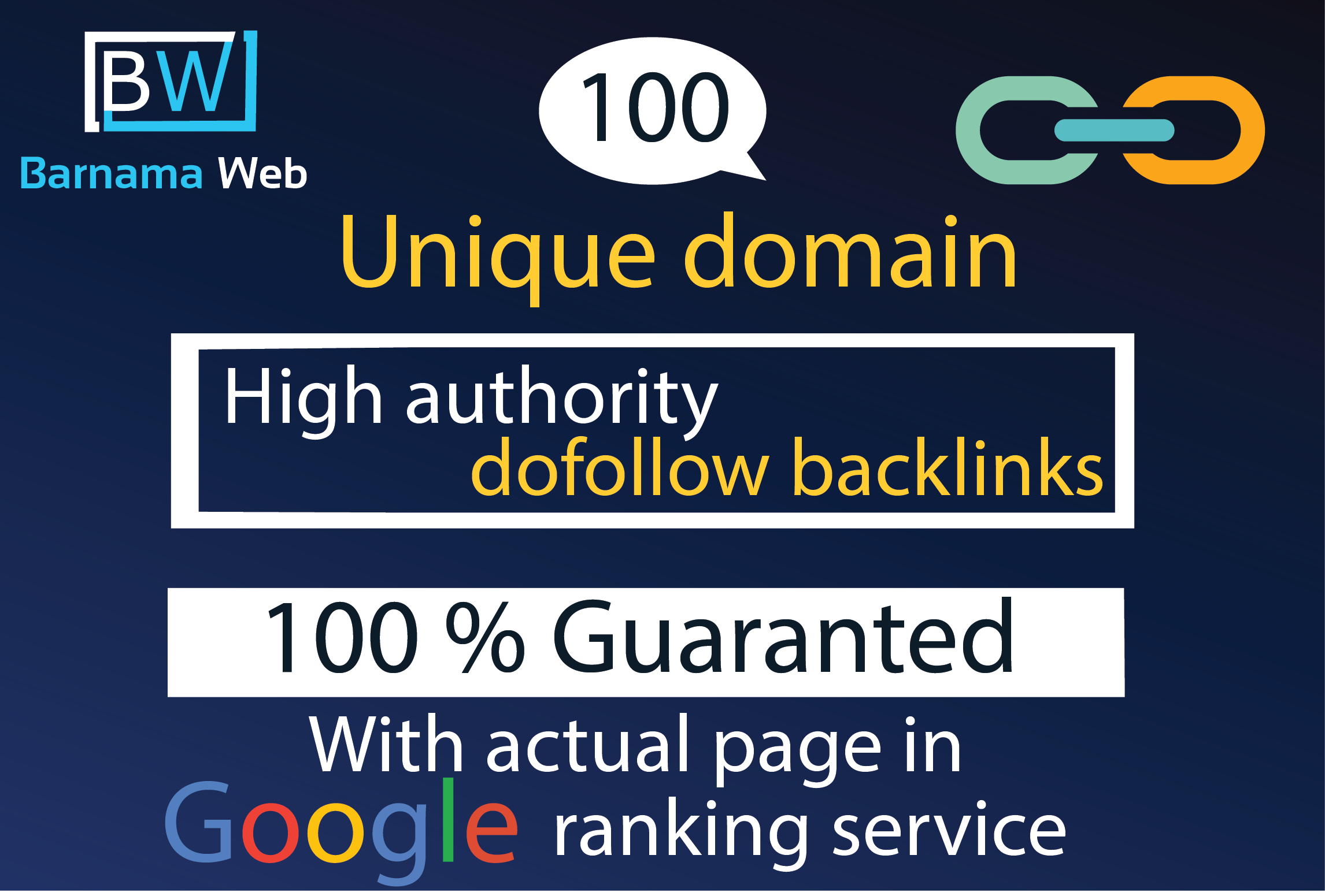 i will create 100 high authority dofollow backlinks unique domain