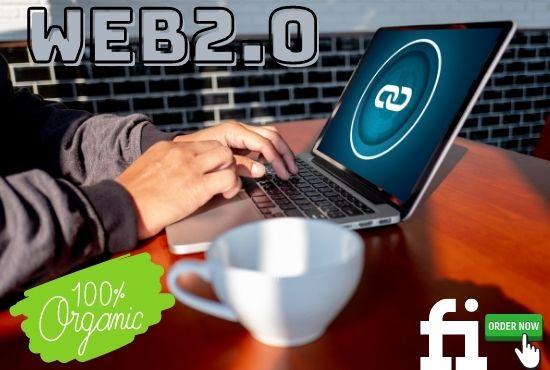 Manual Super 50 web 2.0 permanent do follow back links with high DA PR