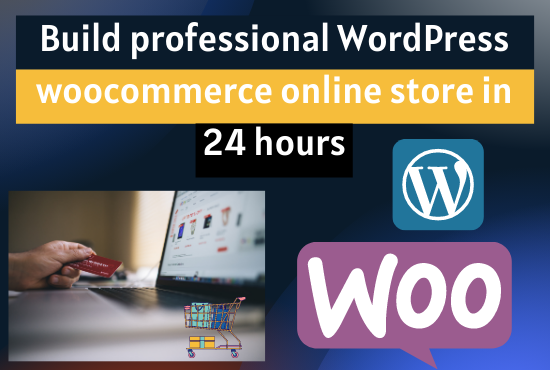 I will build professional wordpress eCommerce Woocommerce online store in 24-hours